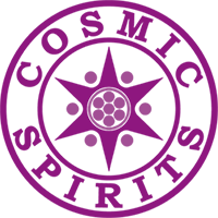 Cosmic Spirits Logo purpur klein